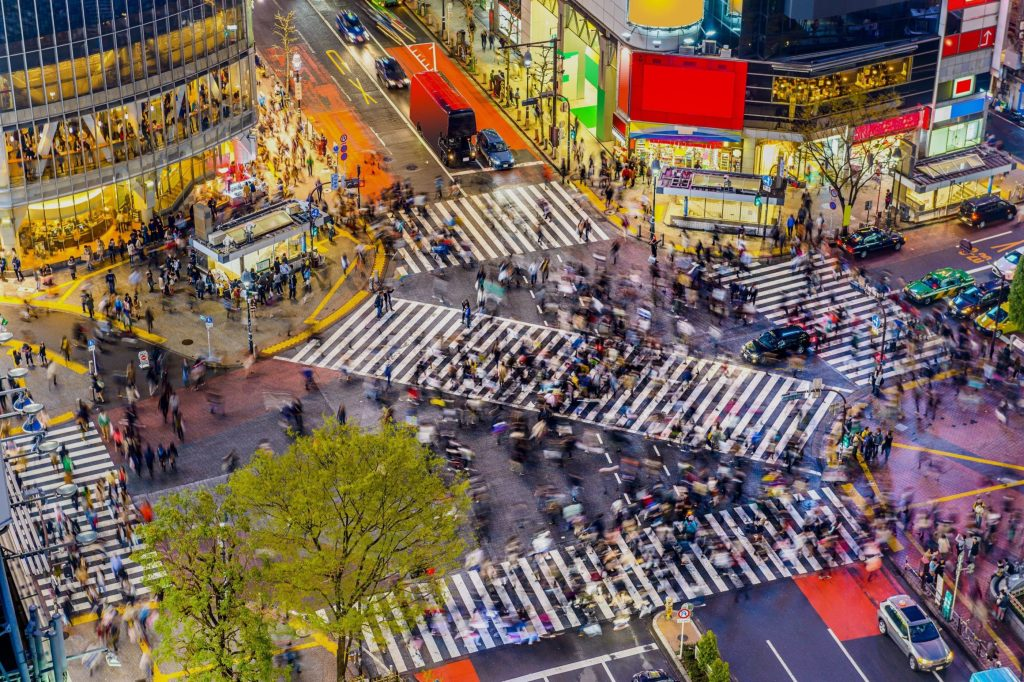 where do most people live in Japan?
